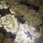 Кружевное полотно черное-золото